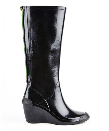 Black Patent Epic Wedge Boot - Women
