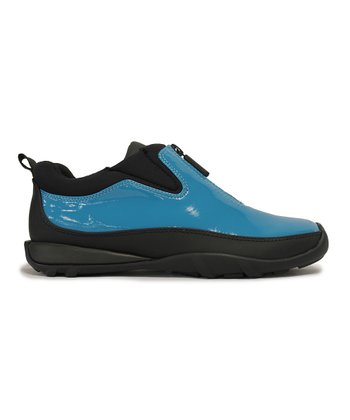 Peacock Blue Patent Howdoo Shoe - Women