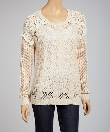 Natural Crochet Top
