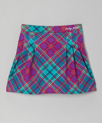 Royal Purple Plaid Skirt - Toddler & Girls
