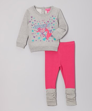 Gray Flash Dance Sweatshirt & Leggings - Infant, Toddler & Girls
