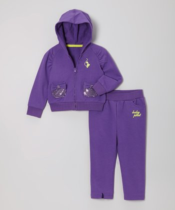 Royal Purple Zip-Up Hoodie & Pants - Infant & Toddler
