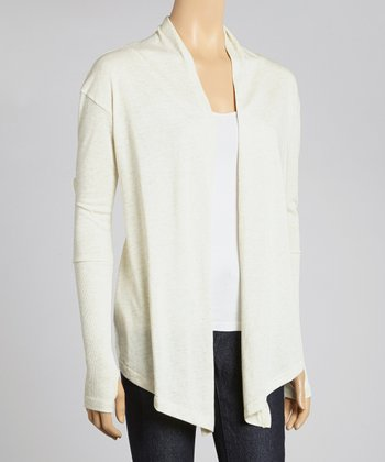 Ivory Eco Dolman Open Cardigan - Women