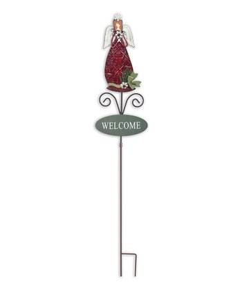 'Welcome' Angel Garden Stake