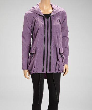 Dusty Lavender Nylon Anorak Raincoat