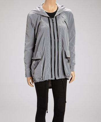 Raw Nylon Anorak Raincoat