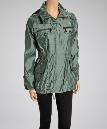 Limestone Iridescent Raincoat