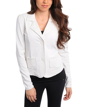 Ivory Patch Pocket Blazer