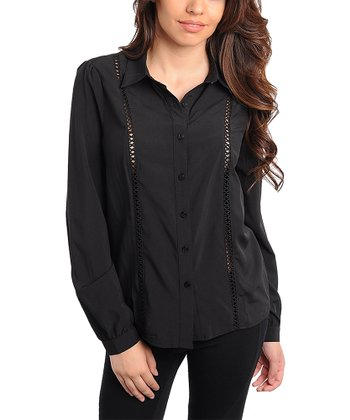 Black Trim Accent Button-Up