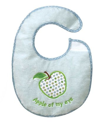 Blue 'Apple of My Eye' Bib