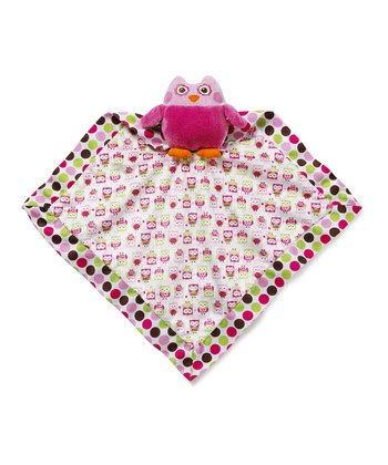 Pink Adorable Owl Security Blanket