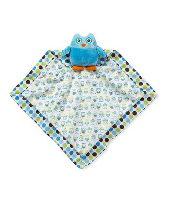 Blue Adorable Owl Security Blanket