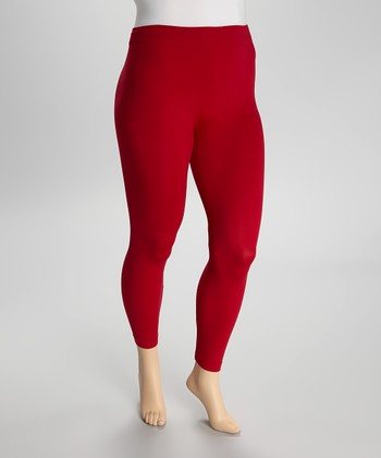 Red  Leggings - Plus