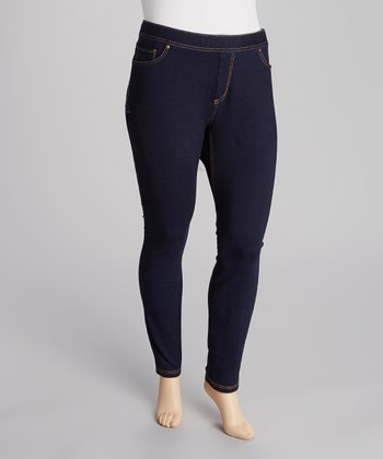 Black Knit Skinny Pants - Plus