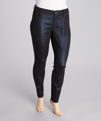 Ink Foil Skinny Pants - Plus