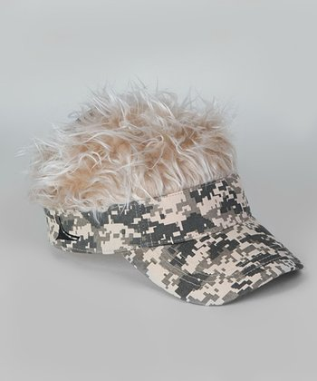 Camo & Faux Blonde Hat