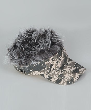 Camo & Faux Gray-Haired Hat