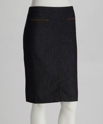 Dark Navy Pencil Skirt