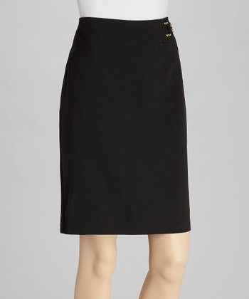 Black Crepe Skirt