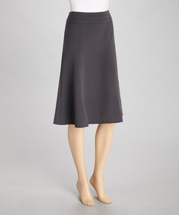 Heather Charcoal Flare Skirt
