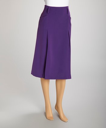 Purple Pocket Skirt