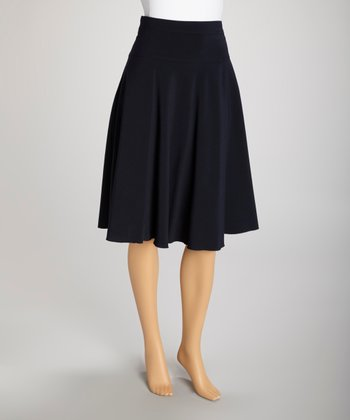 Navy Skirt - Women & Plus
