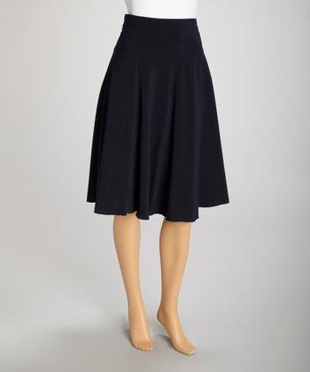 Wall Street Navy Skirt - Women & Plus