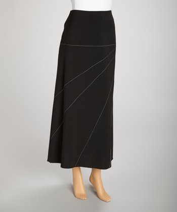 Black Starburst Maxi Skirt