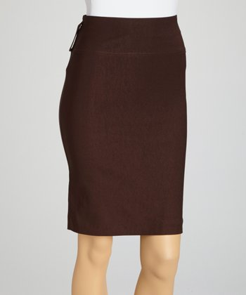Brown Pencil Skirt - Women & Plus