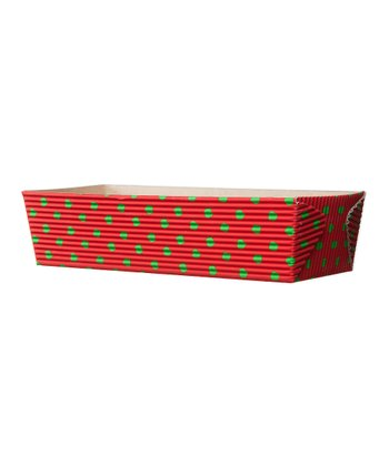 Red & Green Dot Large Loaf Baking Pan - Set of Six