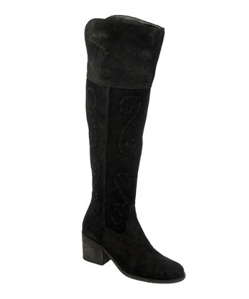 Black Suede Noble Boot