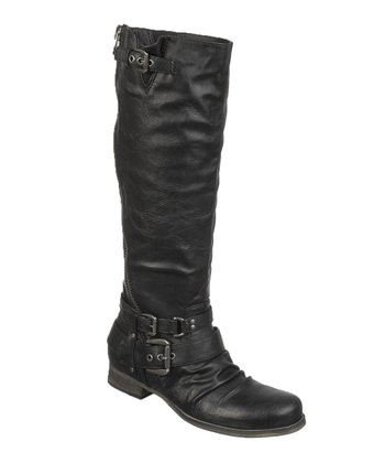 Black Wide Calf Hanna Boot