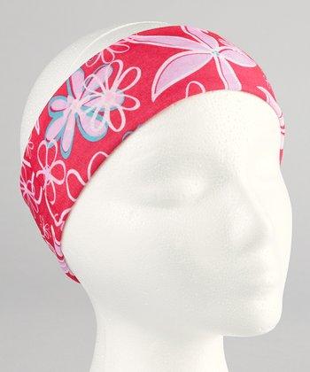 Gone for a Run Pink Floral RokBAND Running Headband
