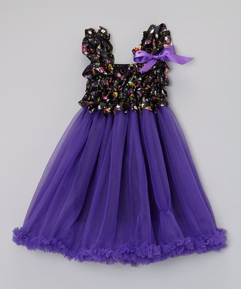 Purple Ruffle Dress - Infant, Toddler & Girls