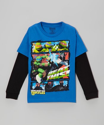 Royal 'Beat This' Teenage Mutant Ninja Turtles Layered Tee - Kids