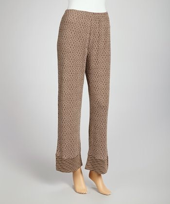 Coffee Cropped Pants