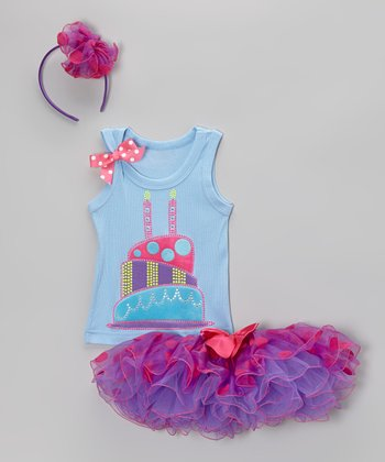 Lilac & Blue 2nd Birthday Tutu Set - Toddler & Girls
