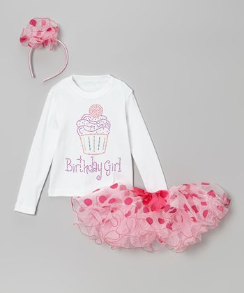 Pink Dot 'Birthday Girl' Tutu Set - Infant, Toddler & Girls