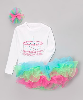Rainbow 1st Birthday Tutu Set - Infant & Toddler