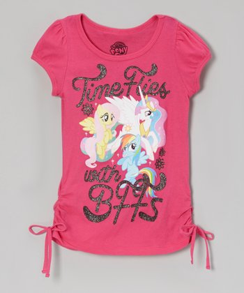 Fuchsia 'Time Flies' My Little Pony Tee - Girls