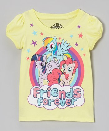 Yellow 'Friends Forever' Tee - Toddler
