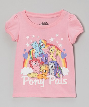 Pink Rainbow 'Pony Pals' Tee - Toddler