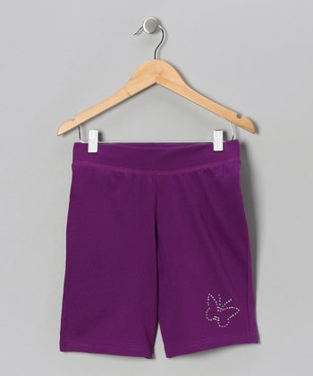 Purple Butterfly Bermuda Shorts