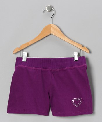 Purple Heart Shorts - Girls