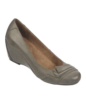 Gray Ellie Wedge Pump