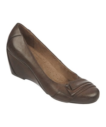 Oxford Brown Ellie Wedge Pump