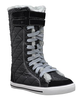 Black Eagle Hi-Top Sneaker Boot