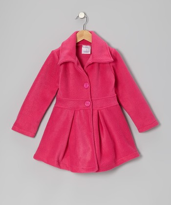 Pink Fleece Swing Coat - Infant, Toddler & Girls