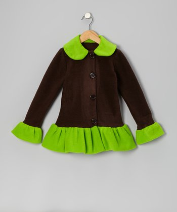 Green & Black Skirted Jacket - Infant, Toddler & Girls