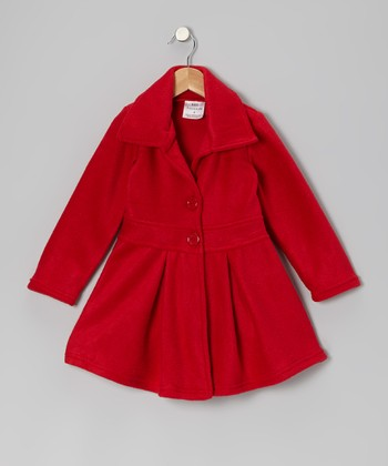 Red Button Coat - Infant, Toddler & Girls